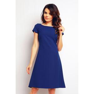 Modré šaty M086