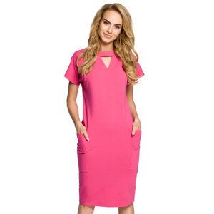 Fuchsiové šaty MOE 317