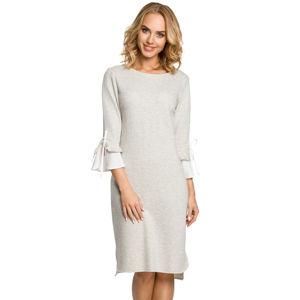 Světle šedé šaty MOE 327