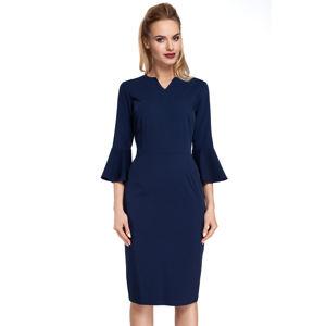 Tmavě modré šaty MOE 299