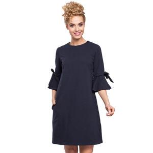 Tmavě modré šaty MOE 286