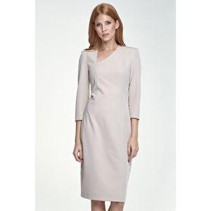 Šedo-béžové šaty S76