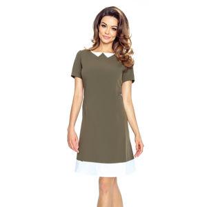 Zeleno-hnědé šaty Rosalia