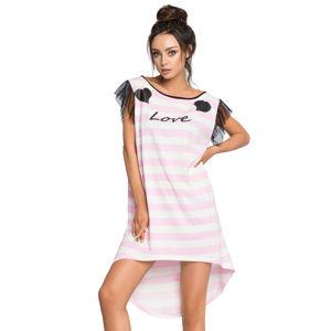 Růžovo-smetanová noční košile Amande