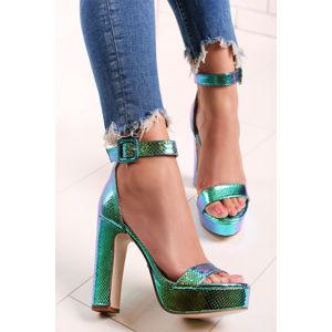 Zelené sandály Nathalie
