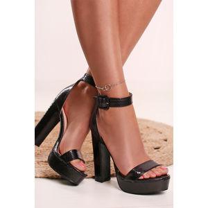Černé sandály Nathalie