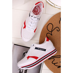 Červeno-bílé platformové tenisky Serlia