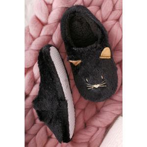 Černé pantofle Tammy