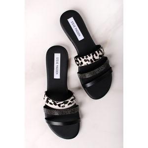Černo-bílé kožené pantofle Tahoe