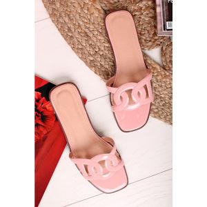 Světle růžové pantofle Rudie