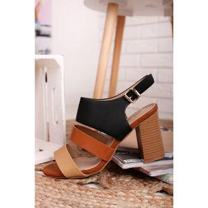 Černo-skořicové sandály Mariah