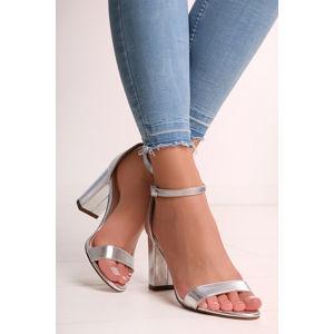 Stříbrné sandály Blithe