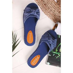 Modré pantofle Aviere