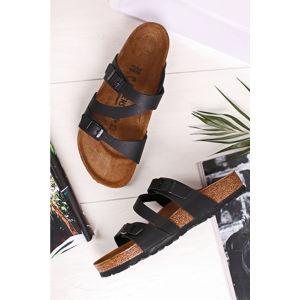 Černé pantofle Salina BF
