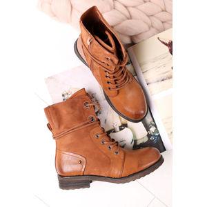 Skořicové kotníkové boty Hattie