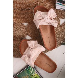 Béžové platformové pantofle Andrea