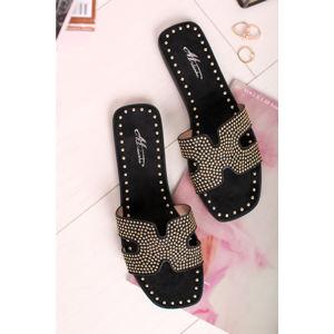 Černé pantofle Jodi