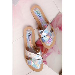 Stříbrné pantofle Brittany