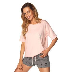 Růžový krátký pyžamový set Monica