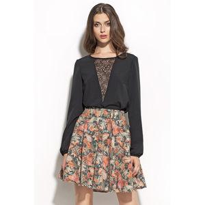 Šedo-zelená sukně SP21