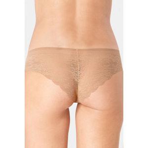 Tmavě béžové krajkové kalhotky Zero Lace Hipster