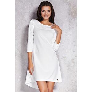 Smetanové šaty M024