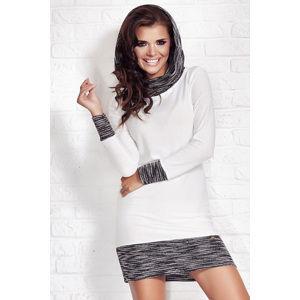 Smetanové šaty M026