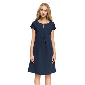 Tmavě modré šaty S020