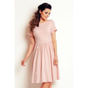 Světle růžové šaty A141