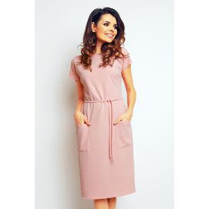 Světle růžové šaty M085