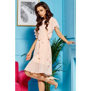 Lososové šaty L303