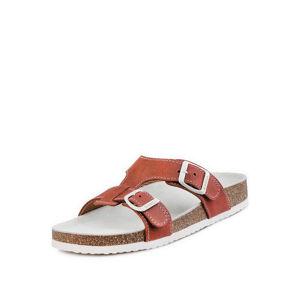 Dámské cihlovobílé pantofle 026050
