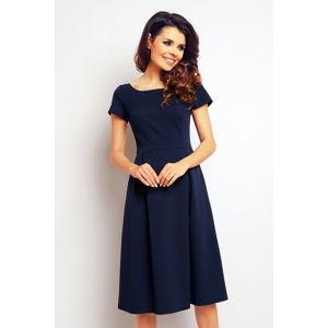 Tmavě modré šaty M084