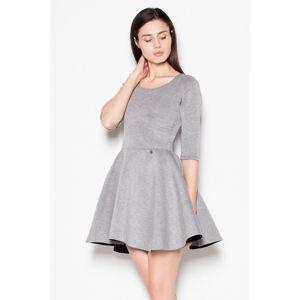 Šedé šaty VT075