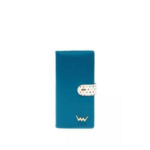 Modrá peněženka s tečkama Drop Dana