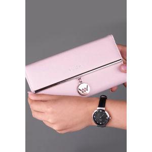 Světle růžová peněženka Lucy