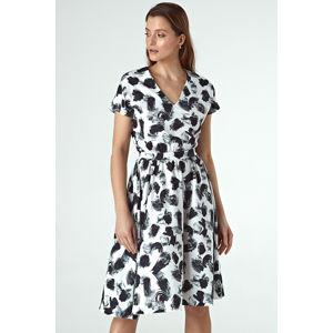 Černo-bílé vzorované šaty CS32